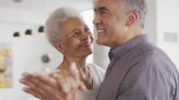 Black Senior Couple Dancing