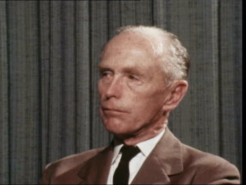 """syria launches second invasion of jordan:; england: london: lap : int alec douglas-home interview sof: """"no i don't think......4 power meeting"""" - alec douglas home video stock e b–roll"""