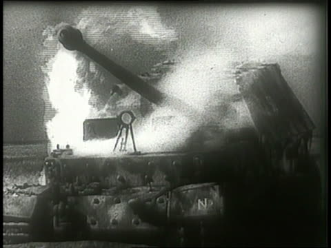 black smoke billows above burning german tanks on a battlefield. - north rhine westphalia stock videos & royalty-free footage