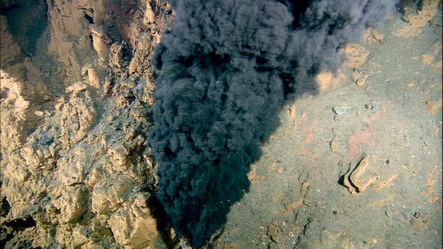 black smoker deep sea vent rises from ocean floor, mid atlantic ridge - undersea stock videos & royalty-free footage
