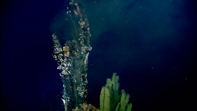 Black smoker deep sea vent rises from ocean floor, Mid Atlantic Ridge