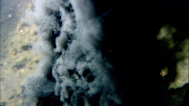 black smoker deep sea vent rises from ocean floor, mid atlantic ridge - boiling stock videos & royalty-free footage