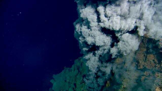 black smoker deep sea vent rises from ocean floor, mid atlantic ridge - spiral stock videos & royalty-free footage