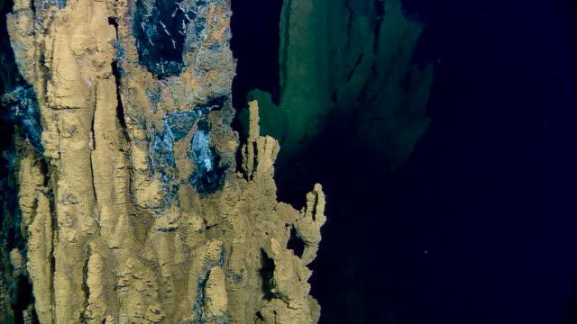 Black smoker deep sea vents rise from ocean floor, Mid Atlantic Ridge
