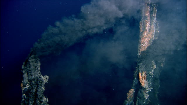 black smoker deep sea vents rise from ocean floor, mid atlantic ridge - underwater stock videos & royalty-free footage