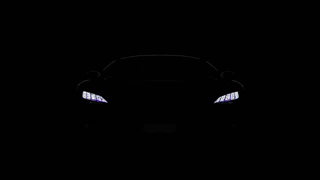 schwarze sportwagen-silhouette auf schwarzem hintergrund - discovery stock-videos und b-roll-filmmaterial