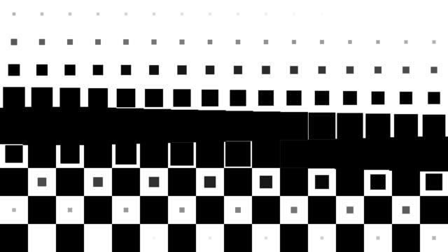 CHESSBOARD PATTERN : black squares, line progress, finally erased (TRANSITION)