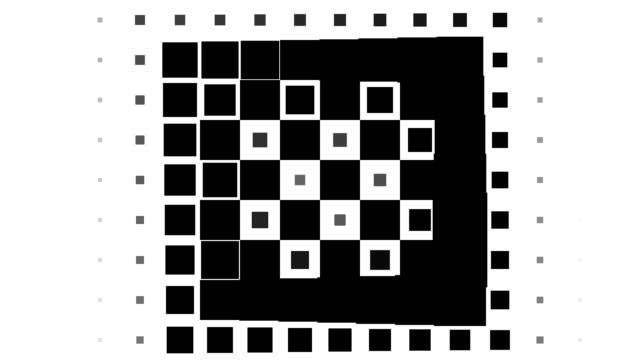 Schachbrett-Muster: black Plätze, spiral Fortschritt, endlich verschwinden (ÜBERLEITUNG)