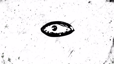 black stop bewegung und frame für frame animation eines auges, das öffnet und schließt, sich umschauen, hochkontrastiert grunge und schmutzig, animiert, beunruhigt und verschmiert 4k loopable video-hintergrund mit street-style-textur - schwarzweiß bild stock-videos und b-roll-filmmaterial