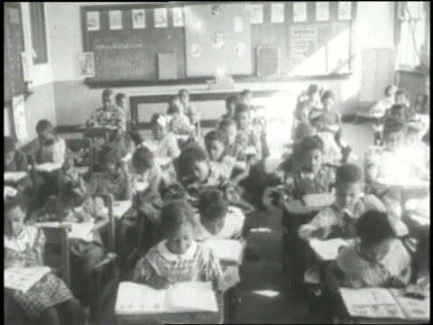 black students attend school - jim crow laws stock videos & royalty-free footage