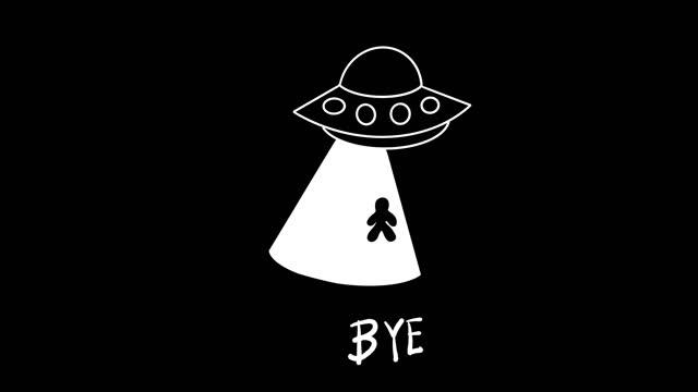 vidéos et rushes de ufo animation noir - pilote