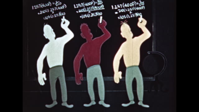vidéos et rushes de black, white and asian men viewed through similarities - intelligence