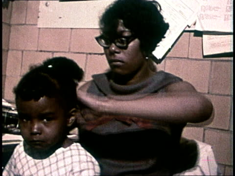black woman fixing young girl's hair - 1972 stock videos and b-roll footage