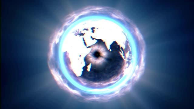 black world circle - light natural phenomenon stock videos & royalty-free footage