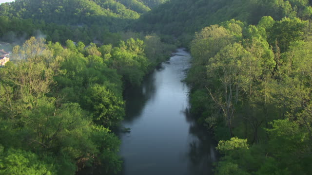 ms aerial blackberry creek / mccarr, kentucky, united states - rolling landscape stock videos & royalty-free footage