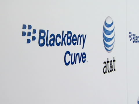 blackberry curve from at&t u.s. launch party at beverly hills california. - curve stock videos & royalty-free footage