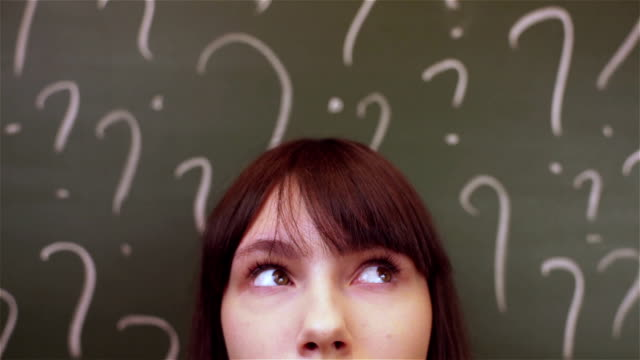 blackboard and eyes - question mark stock videos & royalty-free footage
