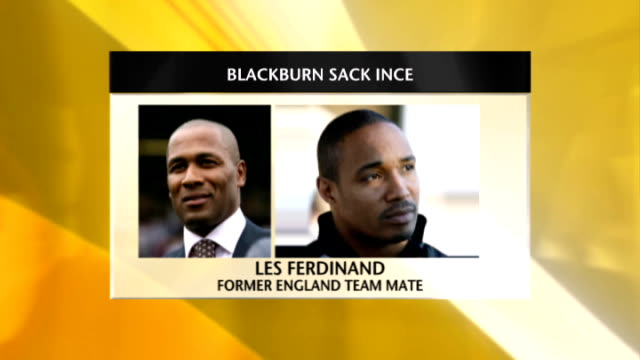 ince sacked as manager graphic les ferdinand phono interview sot - phono einzelwort stock-videos und b-roll-filmmaterial