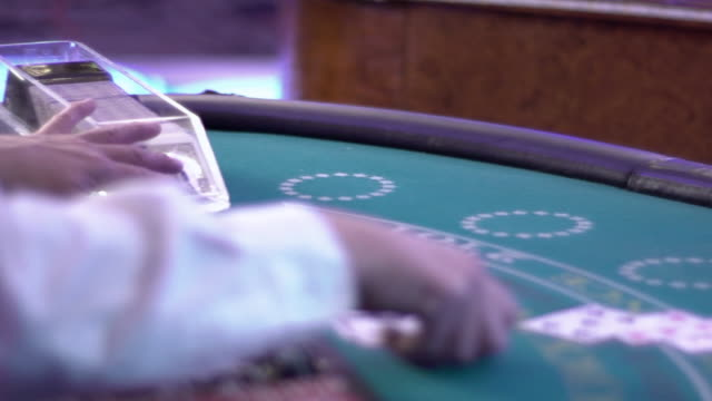 blackjack - dealing a hand - blackjack stock videos and b-roll footage