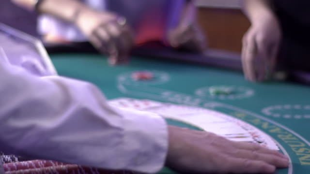 blackjack - fanning cards - blackjack stock videos and b-roll footage