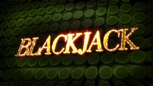blackjack - glitter sparkle text - blackjack stock videos and b-roll footage
