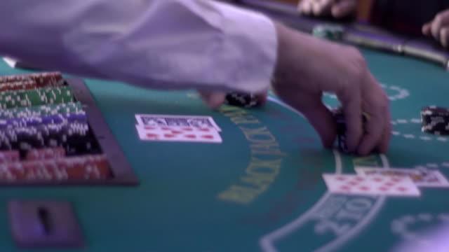 blackjack - payout - blackjack stock videos and b-roll footage
