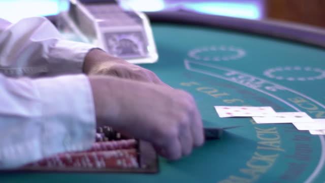 blackjack - winning a hand - blackjack stock videos and b-roll footage