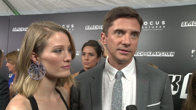 clean blackkklansman new york premiere presented by focus features on july 30 2018 in new york city - topher grace stock videos and b-roll footage