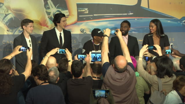 ATMOSPHERE 'BLACKkKLANSMAN' Press Conference The 71st Annual Cannes Film Festival at Palais des Festivals on May 15 2018 in Cannes France