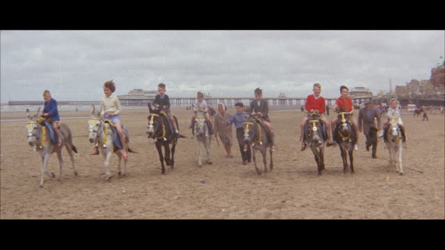 1960 - blackpool beach activities - pier stock videos & royalty-free footage