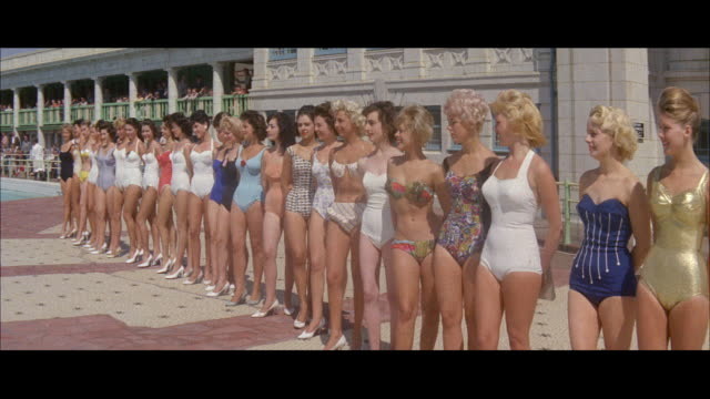 1960 - blackpool - beauty contest - swimwear stock videos and b-roll footage