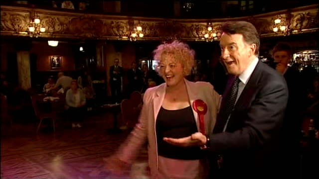 stockvideo's en b-roll-footage met blackpool tower ballroom * * music heard during the following shots sot * * lord mandelson dancing with various women ends - peter mandelson
