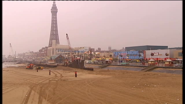 blackpool no longer the venue for party conferences blackpool tower and beach illumination spelling out words 'i'm lovin it' - spelling stock videos & royalty-free footage