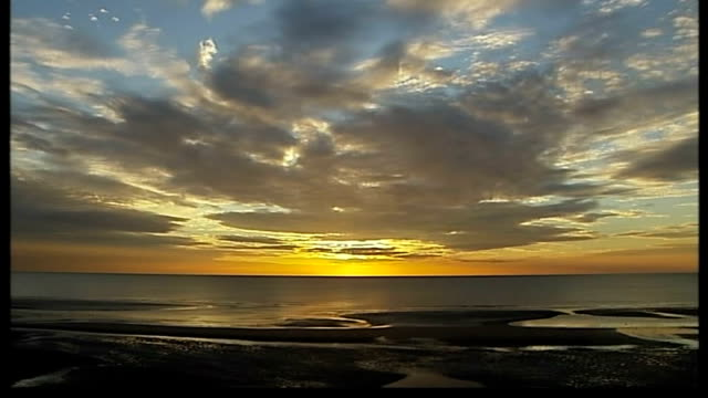 blackpool no longer the venue for party conferences sunset on horizon above pier - horizon stock videos & royalty-free footage