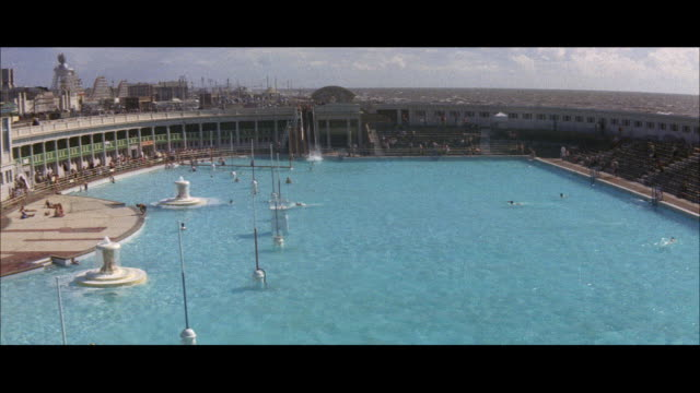 1960 - blackpool - open air baths - blackpool stock videos & royalty-free footage