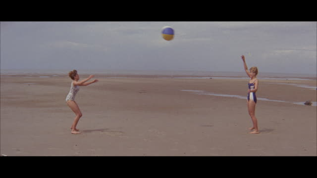 1960 - blackpool - people at the beach - blackpool stock videos & royalty-free footage