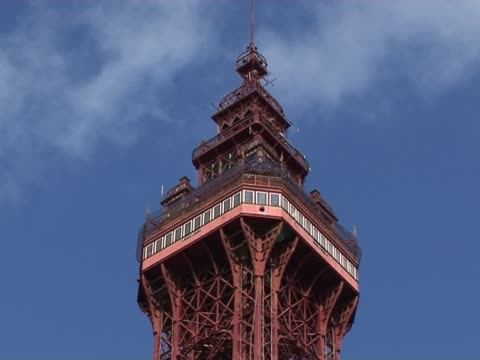 blackpool tower - lancashire stock videos and b-roll footage