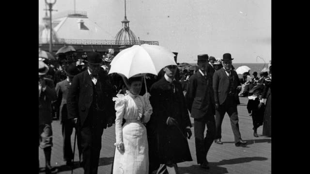blackpool victoria pier 1904 - blackpool stock videos & royalty-free footage