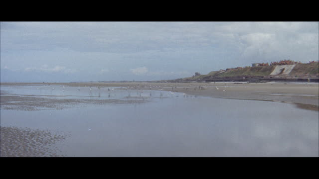 1960 - blackpool - wide beach - wide stock videos and b-roll footage