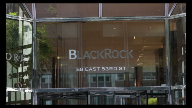 blackrock bank of america and goldman sachs group office building exteriors in new york city new york us on sunday july 12 2020 - bank of america stock videos & royalty-free footage