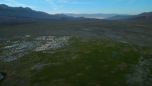 blackrock waterfowl habitat area, wetlands in the owens valley created to provide missing habitat along the largely desiccated owens river. - basin and range province stock videos and b-roll footage