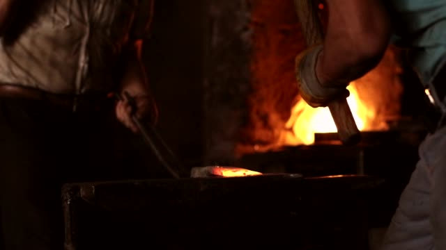 blacksmith at work - hammer stock videos & royalty-free footage