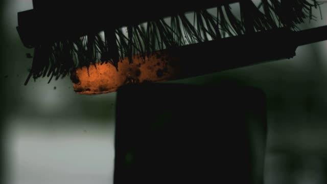 blacksmith brush cu 01 - milliner stock videos and b-roll footage