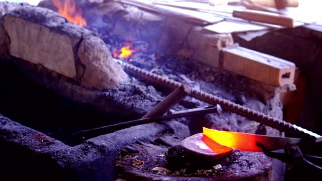 blacksmith Forging hot iron