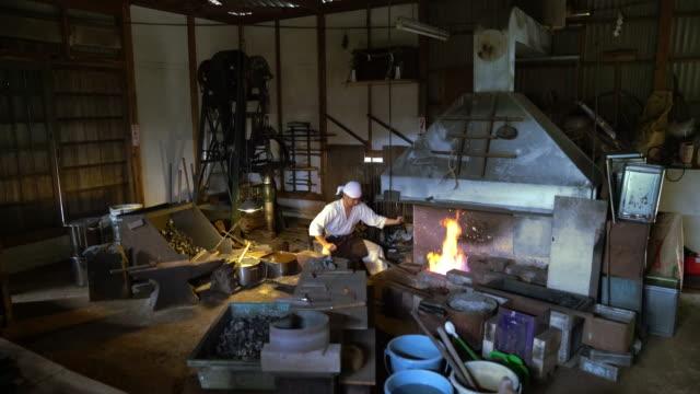 Blacksmith preparing workshop