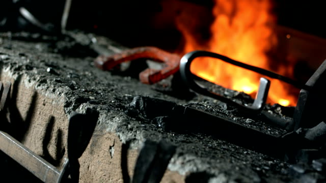 hd: blacksmith shop - horseshoe stock videos & royalty-free footage
