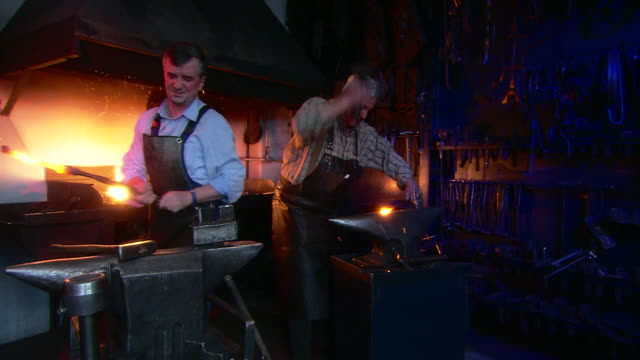 blacksmith's craft - strike industrial action stock videos & royalty-free footage