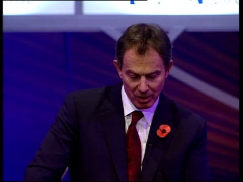 blair addresses cbi conference tony blair speech sot will be no new ramp of employment legislation that takes us back to 1970s/ basic settlement in... - paper industry stock videos & royalty-free footage