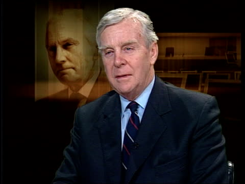blair bbc to receive report day before publication itn sir richard scott interviewed sot i was concerned that there shouldn't be leaks - publication stock videos & royalty-free footage