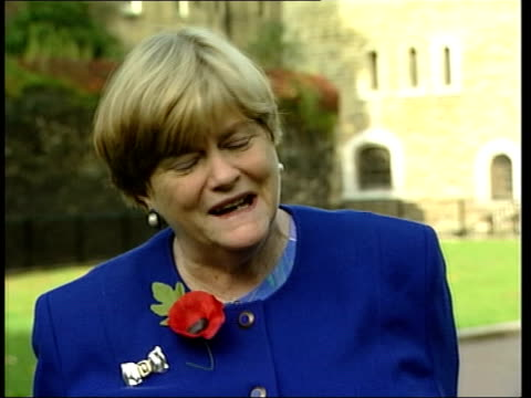 blair boosting campaign for war itn london ext ann widdecombe mp interview sot it is treachery wales cardiff tony blair and john prescott mp at welsh... - ジョン プレスコット点の映像素材/bロール